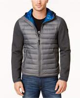 MICHAEL Michael Kors Men's Lightweight Packable Hooded Quilted Jacket