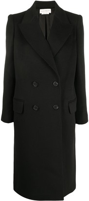Alexander McQueen Cashmere-Wool Blend Double Breasted Tailored Coat