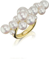Assael 18k Linear Pearl Bubble Ring