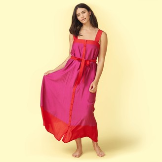 Summersalt The Globetrotter Maxi Dress - Lava & Hibiscus