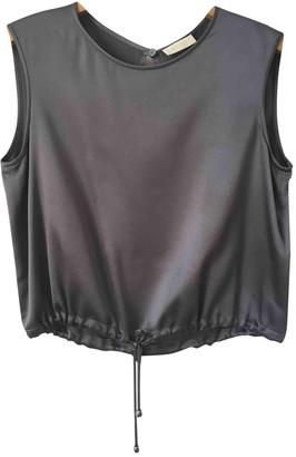 Genny Grey Silk Top for Women