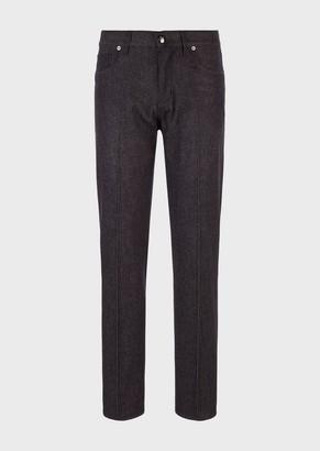 Giorgio Armani Regular-Fit Stone Washed Bull Jeans
