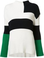 Stella McCartney colour block pattern jumper - women - Silk/Cotton/Virgin Wool - 40