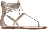 Sigerson Morrison Blaze metallic leather sandals