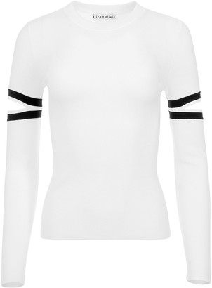Alice + Olivia Cut-Out Detail Knitted Top