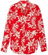 Saint Laurent Red Hawaiian-print Challis Shirt