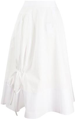 Loewe Tie Detail Flared Skirt