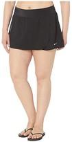 Nike Plus Size Essential Swim Boardskirt (Black) Women's Swimwear