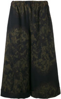 Comme des Garcons printed wide-leg trousers - women - Wool - S