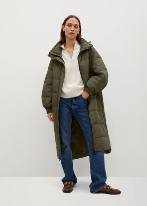 MANGO Quilted long coat