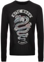 Religion Crew Neck Bite Back Sweatshirt Black