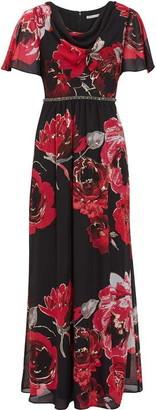 Gina Bacconi Mallie Cowl Neck Floral Maxi Dress