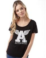 Jacqueline De Yong Womens Sparkle Loose Print T-Shirt Black