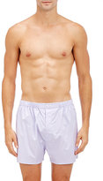 Barneys New York Men's Checked Boxers-WHITE