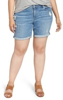Lucky Brand Plus Size Women's Georgia Roll Cuff Denim Shorts