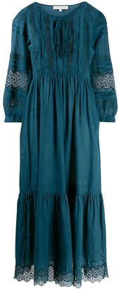 Vanessa Bruno Lace Embroidered Flared Dress