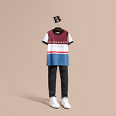 Burberry Multi Stripe Cotton T-shirt