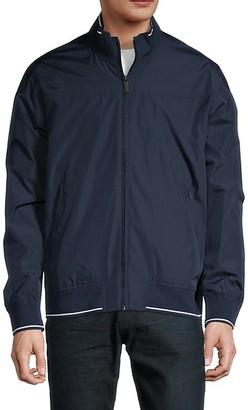 Perry Ellis Zip-Front Long-Sleeve Jacket