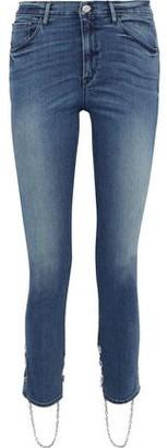 3x1 Bijou Stirrup Chain-trimmed High-rise Skinny Jeans