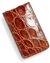 Boconi Crocodile Magnetic Money Clip