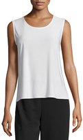 Caroline Rose Basic Knit Tank, White