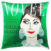 Kate Spade Dazzle & Delight Magazine Cover Silk & Cotton Square Feather Pillow