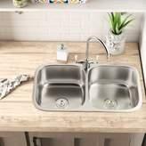 "Phoenix Foster Stainless Steel 31.25"" L x 22"" W Double Basin Undermount Kitchen Sink Phoenix"