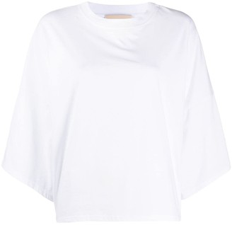 Alexandre Vauthier Oversized Cropped Sleeve Top