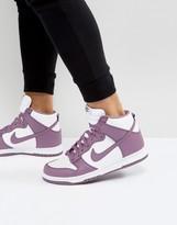 Nike Dunk Retro Trainers In Purple 846813-500