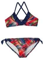 Splendid Girls' Plaid Patch Bralette Bikini.