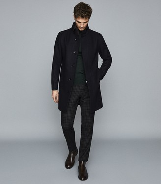 Reiss HAWNBY OVERCOAT WITH REMOVABLE INSERT Navy