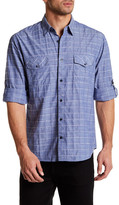 James Campbell Serif Plaid Regular Fit Shirt