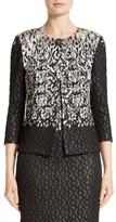 St. John Women's Pixelated Metallic Jacquard Knit Jacket