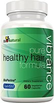 Vibrance Hair Growth Vitamins with Biotin & OptiMSM - Faster Growth Formula to Naturally Promote Longer, Stronger, Healthier Hair - For All Hair Types - 60 Vegetarian Soft Capsules