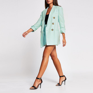 River Island Green double breasted blazer