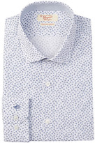Original Penguin Floral Print Long Sleeve Slim Fit Dress Shirt
