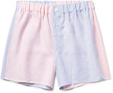 Emma Willis - Two-tone Slub Linen Boxer Shorts
