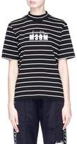 MSGM x Diadora logo print stripe T-shirt
