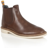Frank Wright Brown Leather 'hazelburn' Chelsea Boots