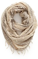 BP Women's Geo Embroidery Infinity Scarf