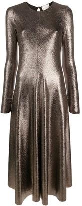 Forte Forte Metallic Shimmer Midi Dress