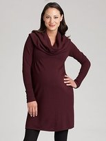 HomeMummy Maternity Cowlneck Sweater Dress