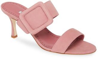 Manolo Blahnik Gable Buckle Sandal