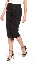 Halogen Women's Side Ruffle Pencil Skirt