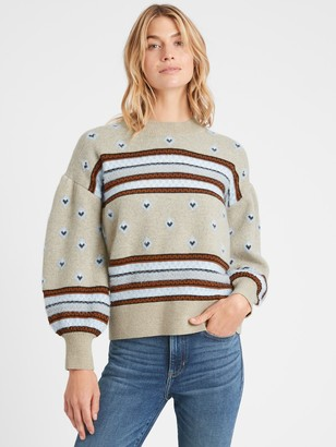 Banana Republic Fair Isle Balloon-Sleeve Sweater