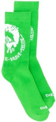 Diesel Logo Calf-Length Socks