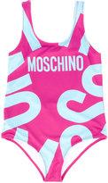 Moschino Kids - logo print swimsuit - kids - Polyester/Spandex/Elastane - 5 yrs