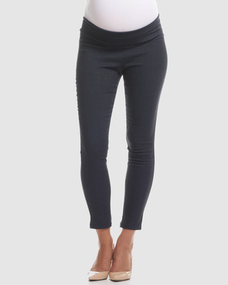 Soon Women's Blue Capris - Dot Print Crop Maternity Pants - Size One Size, 8 at The Iconic