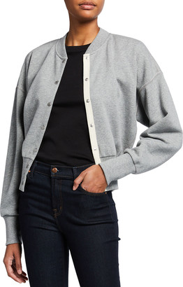 Rag & Bone Forest Heathered Snap-Front Cardigan