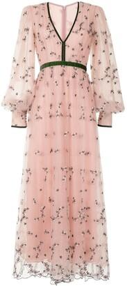 Costarellos Margarette glitter tulle gown